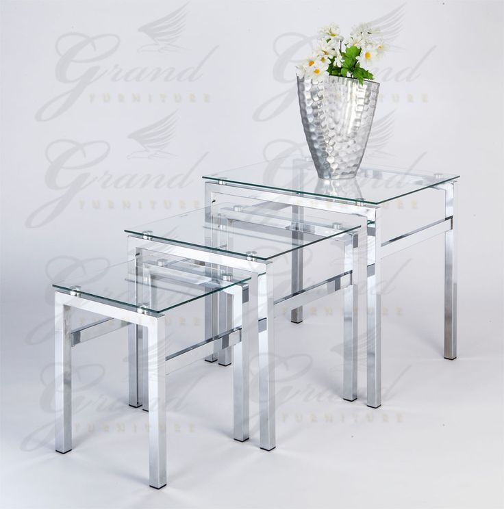 Elsa Range Clear Glass Nest of Tables Coffee Side Coffee Lamp End Table Sets in Home, Furniture & DIY, Furniture, Tables | eBay