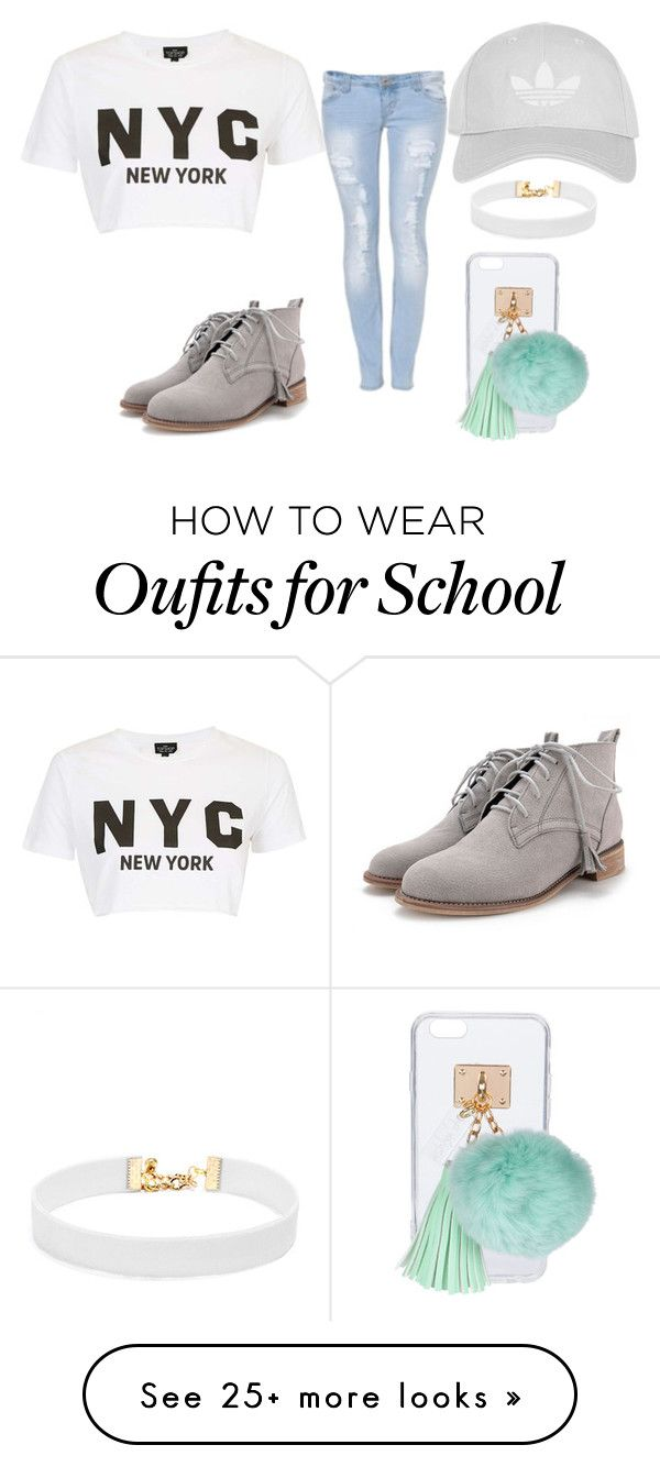 """""""nyc #bored at school"""" by lifeissweet170000 on Polyvore featuring Topshop, Ashlyn'd and Vanessa Mooney"""