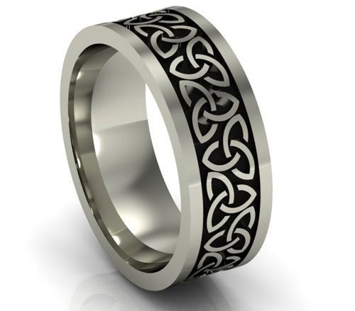 Celtic style wedding bands for men