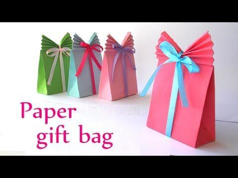 DIY crafts: Paper GIFT BAG (Easy) - Innova Crafts - YouTube