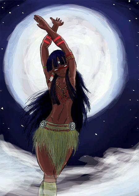 Jaci   (do tupi Ya-cy ou Ia-cy) na mitologia tupi é a deusa Lua, protetora das plantas, dos amantes e da reprodução. Segundo a tradição, Guaraci, o deus do Sol um dia cansou-se de seu ofício eterno e precisou dormir. Quando fechou os olhos o mundo caiu em trevas. Para iluminar a escuridão enquanto dormia, Tupã criou Jaci, a lua. Uma deusa tão bonita que ao Guaraci despertar por sua luz, apaixonou-se por ela. E assim encantado, voltou a dormir para que pudesse vê-la novamente. Mas, quando o…