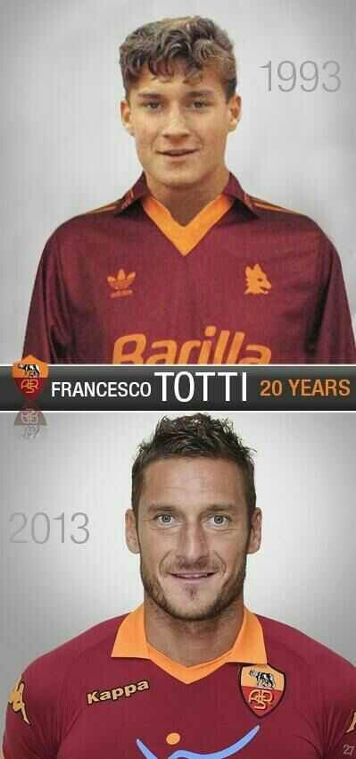 Totti finishes his twentieth years in calcio Long live el re di roma