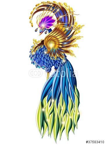 Vector: Uccello del Paradiso Fantasia-Amazing Paradise Bird Fantasy