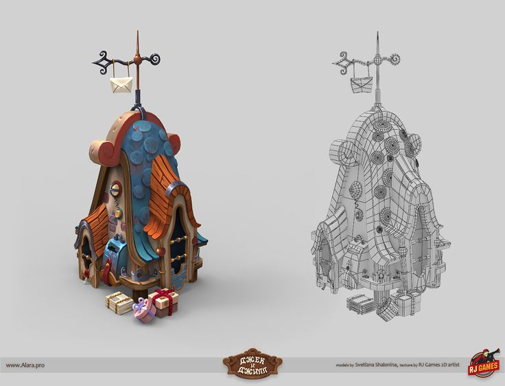 "ArtStation - ""Jack and Jill"" Game Assets, Svetlana Shalonina"