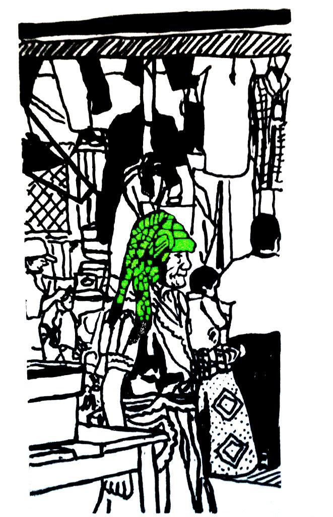 Mujeres de Tlacolula con tocados y rebozos (2)