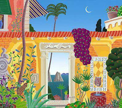 Thomas McKnight's Sorrento Courtyard Limited Edition Fine Art