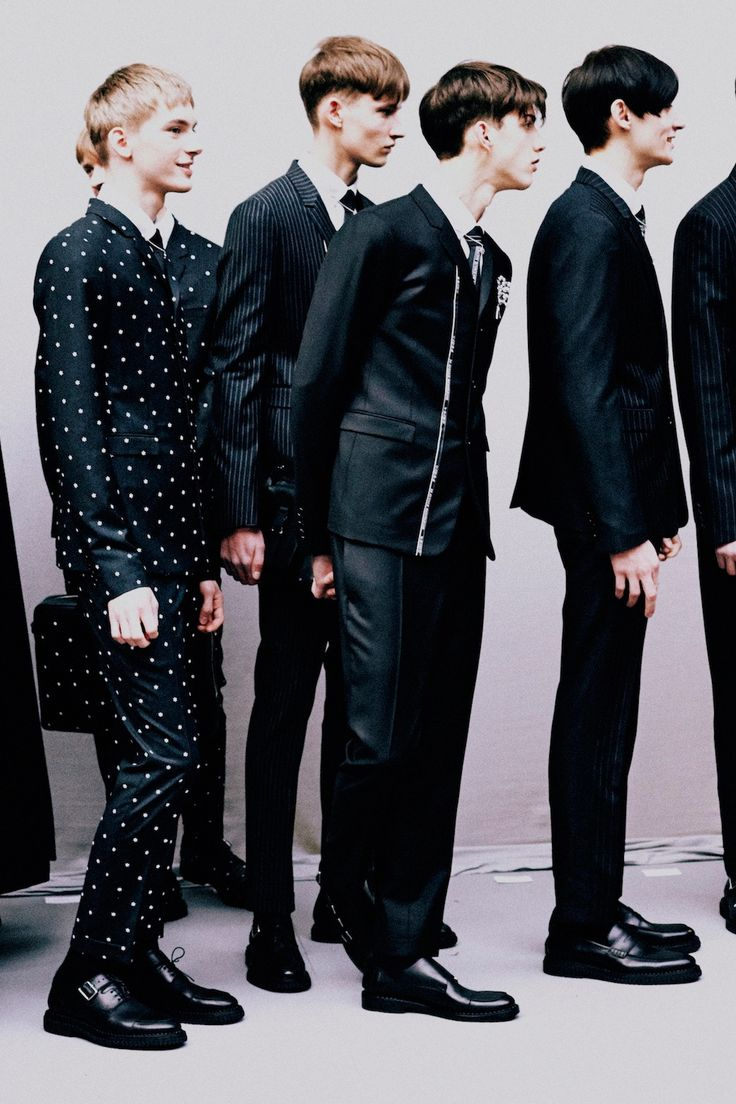 Dominik Sadoch & Frederik Ruegger   Backstage at Dior Homme Fall/Winter 2014   Photographed by Harry Carr
