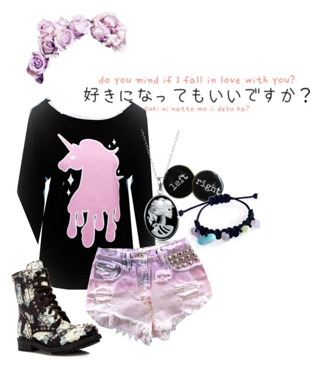 pastel goth #3 by red-foxess-and-wolf on Polyvore featuring polyvore, fashion, style, Bling Jewelry and Ash
