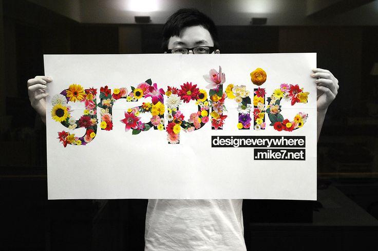 flower typography - Google 검색