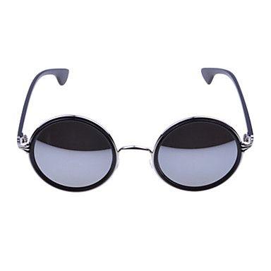 Unisex Dark Grey Revo Lens Black & Silver Frame óculos redondos – BRL R$ 25,51