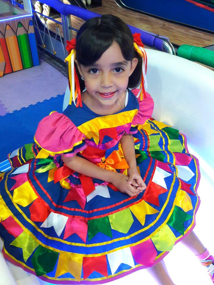 Vestido caipira infantil Molequinho