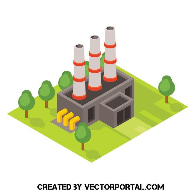 Factory Isometric Icon Vector Illustration Isometric Isometric Design Isometric Illustration
