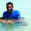 Stingray at Dolphin Cove in Negril