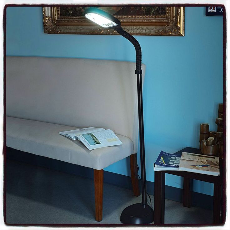 Black Modern Floor Lamp 5' Office Living Room Computer Laptop Home Decoration US #BlackModernFloorLamp #Modern