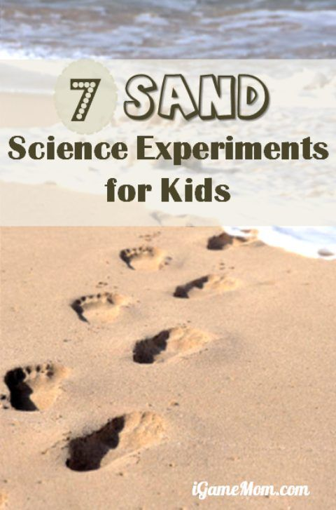 Fun sand science experiments for kids and the whole family to do on the beach or a sandbox in your own backyard or a park. Playful STEM activities for kids.