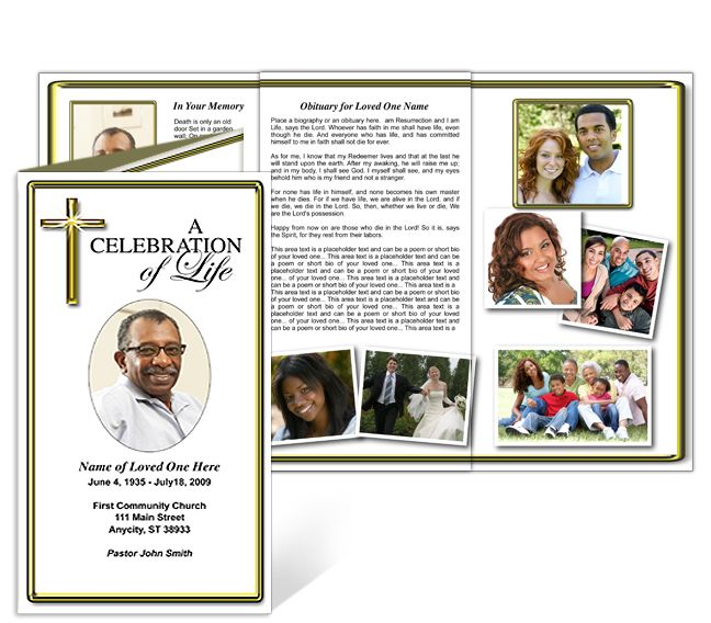 brochure insert template - 214 best creative memorials with funeral program templates