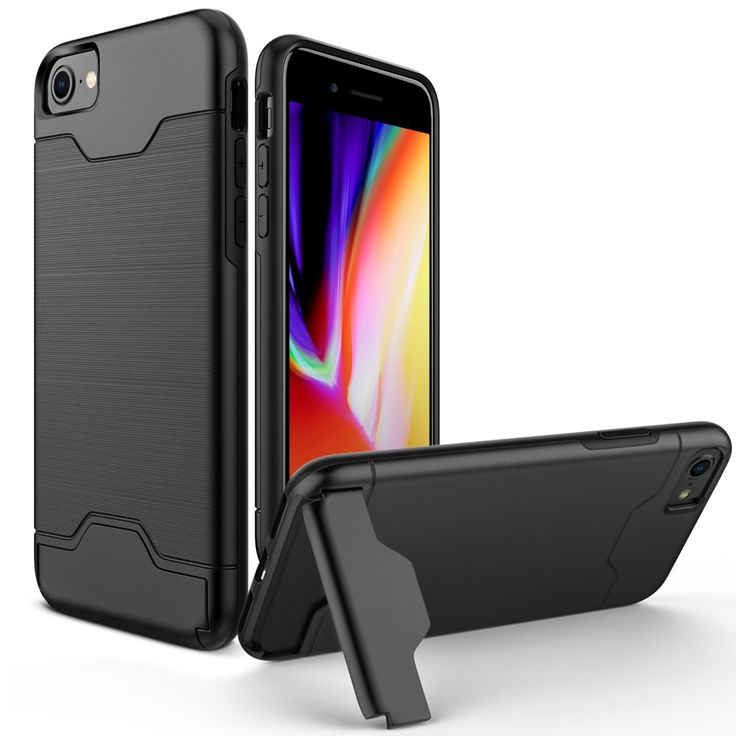 iPhone 8 Case, iPhone 7 Case, Allovit Shockproof Full Protective Cover with Kickstand Dual Layer Wallet Design Case for Apple iPhone 8 ( 2017) / iPhone 7 (2016) - Black. Specifically designed by Allovit for Apple iPhone 8 (2017) / iPhone 7 (2016). Built-in kickstand for optimum hands-free viewing and add extra function and style. Dual-layer with shock-absorbent TPU and rigid PC material for durability full-body rugged protection for your iPhone 7 / iPhone 8 and can increased shock…