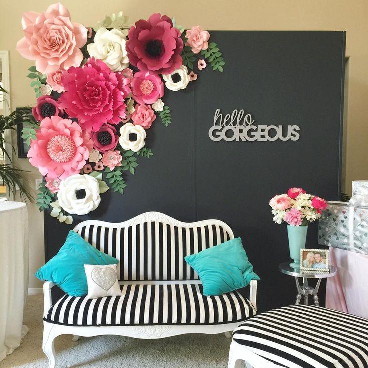best 25  paper flower backdrop ideas on pinterest