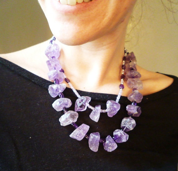Amethyst Love Necklace by Gina Petteys Design