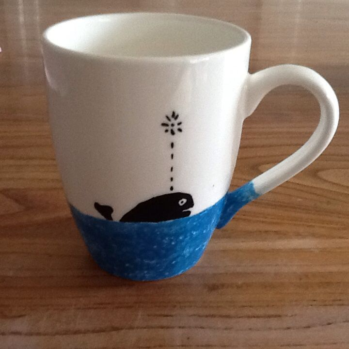 Whale mug- Paint & Create Ceramic Painting -Meadowbank,  Auckland