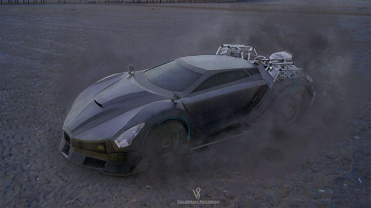 ArtStation - BTTF DeLorean Redesign (Reworked), Vicky Seauta