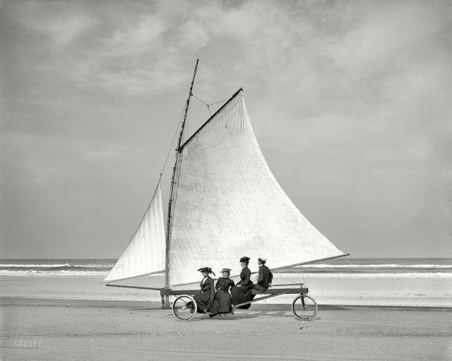 Виндсерфинг в Ормонде, штат Флорида, 1900 год.