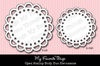 *My Favorite Things OPEN SCALLOP DOILY DUO Die-Namics MFT