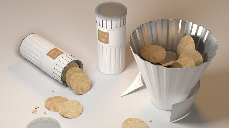What awesome potato chip packaging... tube turns into bowl! Smart!