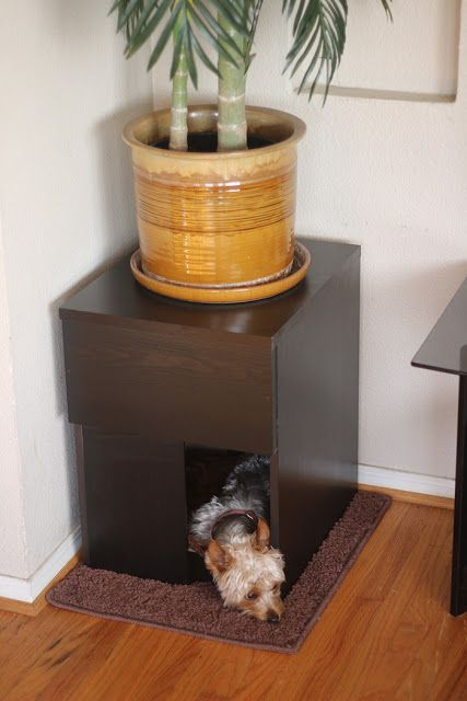 Indoor Custom Dog House From My Favorite Furniture DIYers: IKEA Hackers.  Stylish And Space