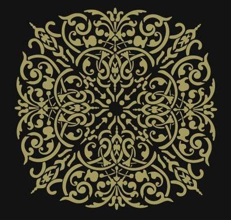 Alhambra Medallion stencil