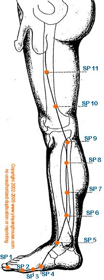 Spleen meridian points and functions