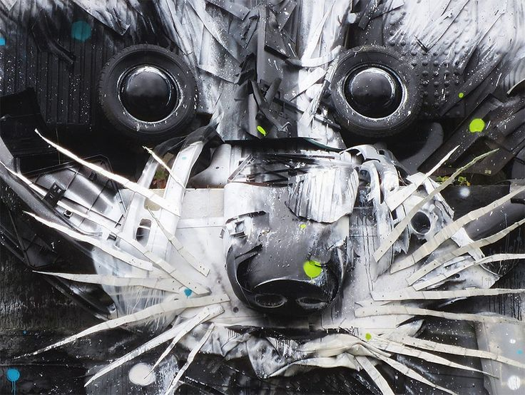 "One of these homegrown creatives is artist Arturo ""Bordalo II,"" who uses materials like old tires, scrap metal, steering wheels, oil paint, and bumpers to form impressive, larger-than-life 3D murals on walls and back alleys throughout the city."