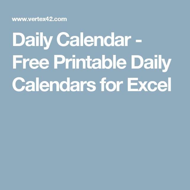 Πάνω από 25 κορυφαίες ιδέες για Daily calendar template στο - daily calendar printable