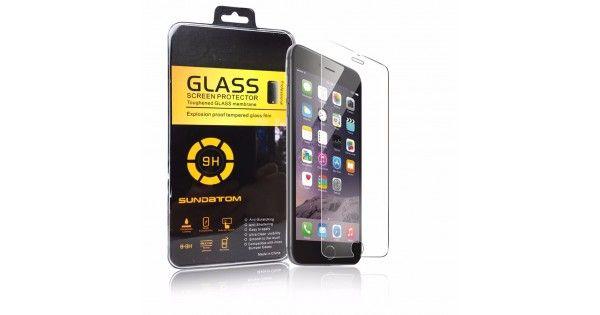 Mica cristal templado ultra delgada 2.5D Sundatom redondeada 2.5D protector de pantalla para iPhone 4 5 5S 6 6plus