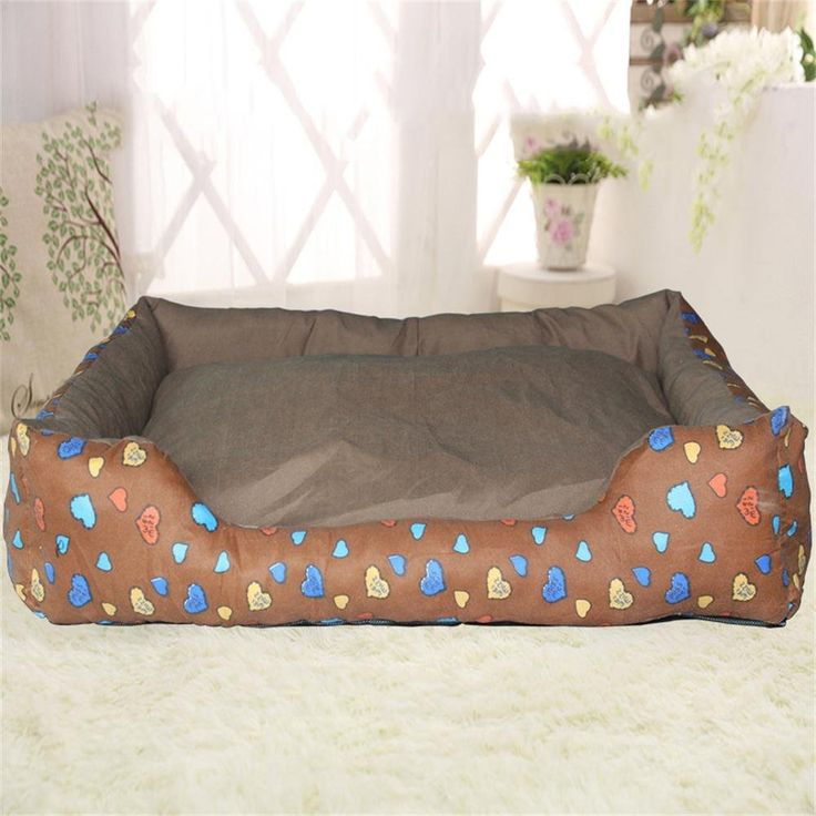ALUS- Detachable wash pet mat medium and small pet dog cat litter four seasons (brown) > Review more details here : Dog house
