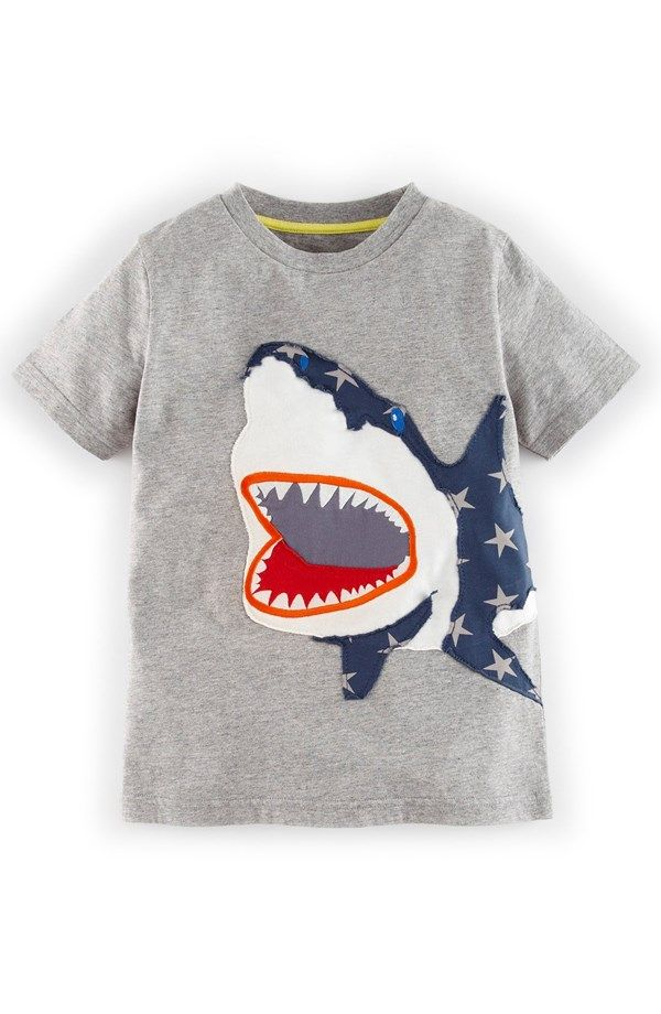 ad3c68ad95e9 Cotton Jersey Appliqué T-Shirt   Easy Skanking A's World - Fresh to Death   Boys  t shirts, Mini boden, T shirt