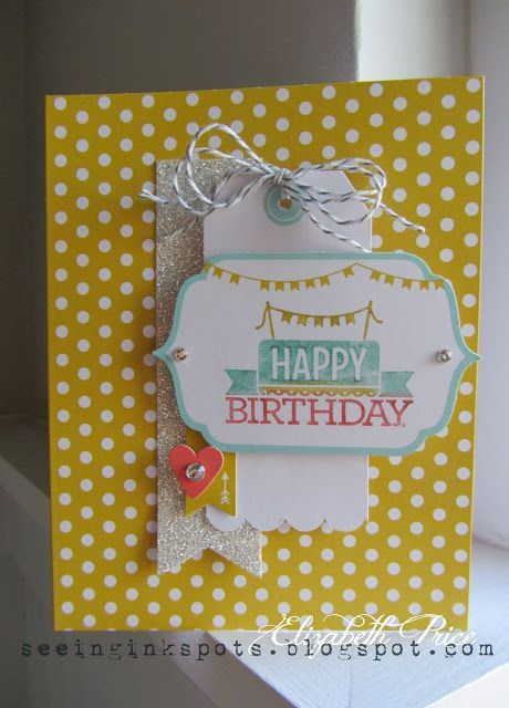 Love this card made with the Everyday Occasions kit!Cards Ideas, Occasion Kits, Cards Birthday, Cards Kits, Occasion Cards, Stampin Up, Ink Spots, Happy Birthday Cards, Everyday Occasion