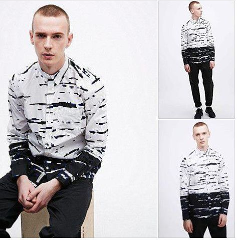 Allen Distortion Print L/S Shirt | Eldorado