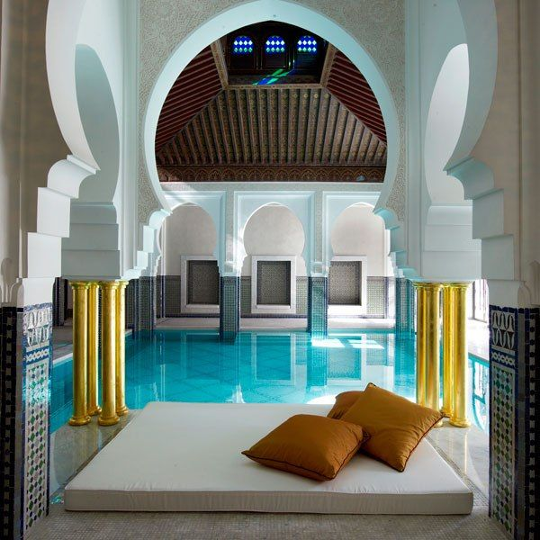 Mamounia Spa at Morocco's La Mamounia hotel. One of AD's 11 most beautifully designed spas in the world