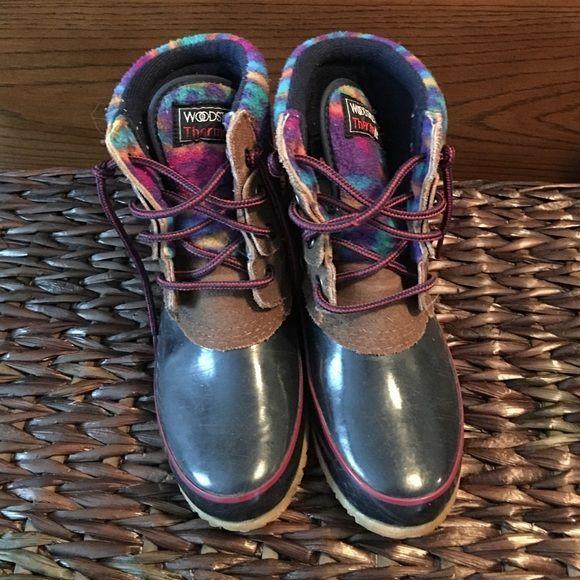 Womens duck boots (Woodstock) beanboots Womens winter boots (Woodstock brand) duck boots / beanboots Woodstock Shoes Winter & Rain Boots