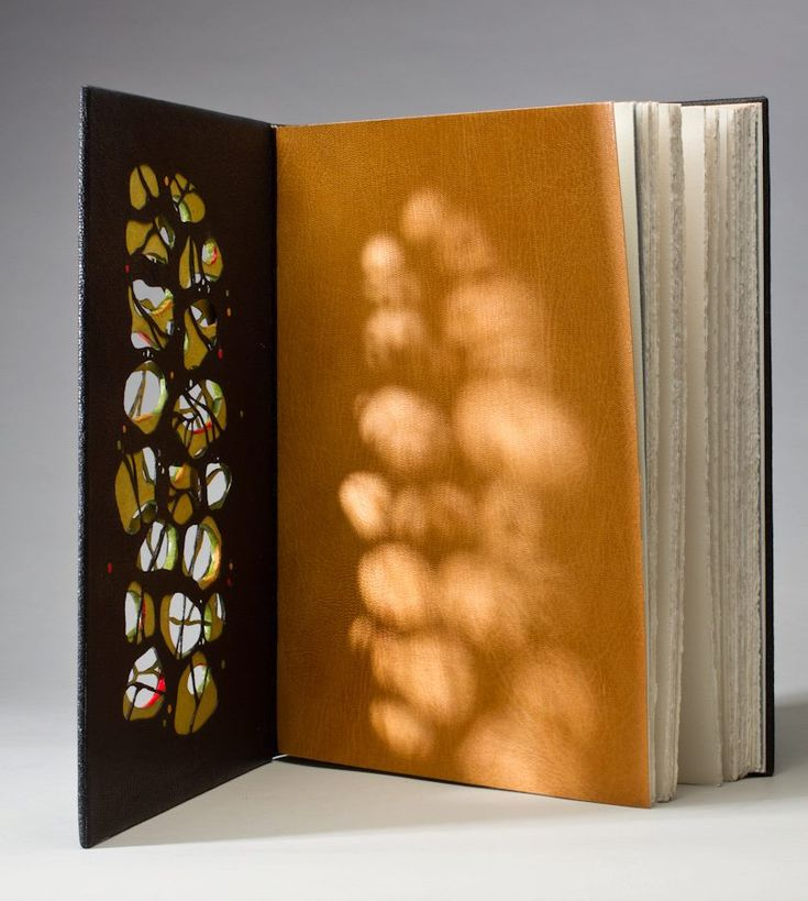 Book by Monique Lallier, an internationally known bookbinder. I love how the this picture highlights the unique cover!
