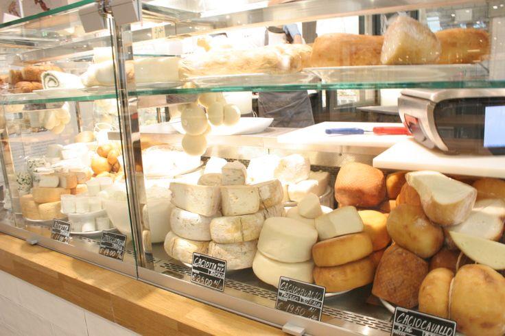 Many #cheese varieties at #Eataly #Rome