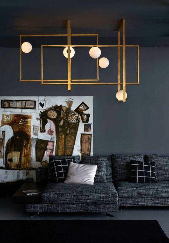 17 best ideas about sofa gris on pinterest salon gris lounge decor and grey walls living room - Salon noir et gris ...