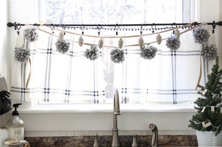Layered garlands - pom poms, mini ornaments, use the chain with clips | Rooms FOR Rent Blog