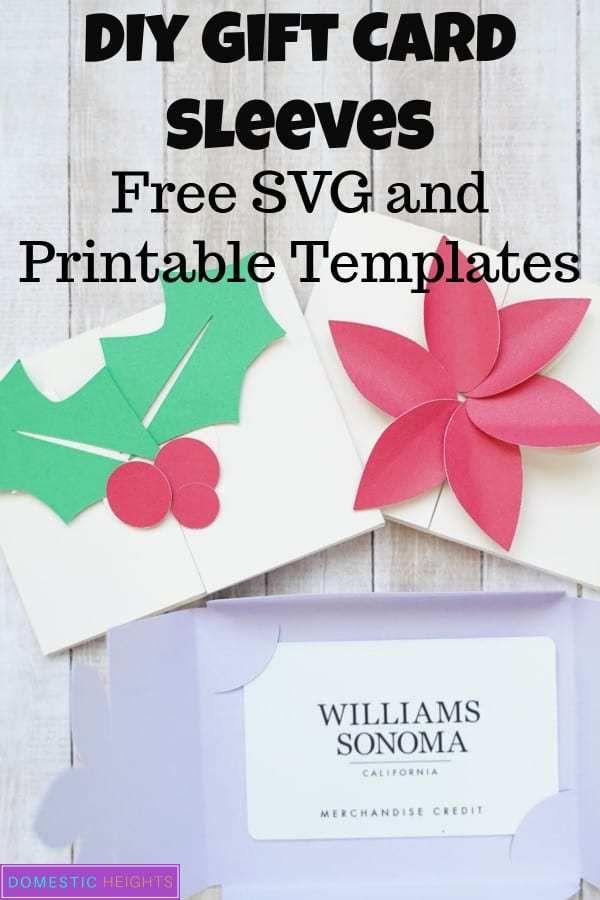 Free Cricut Gift Card Holder Svg Domestic Heights Gift Card Holder Template Diy Gift Card Gift Card Holder Diy