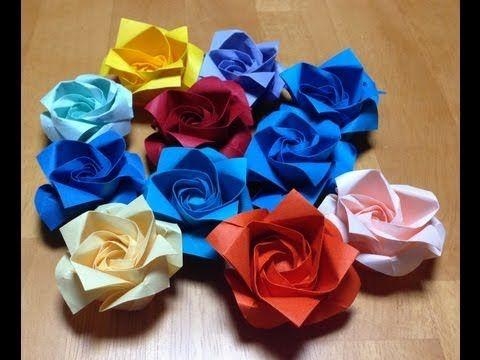 【折り紙】バラの折り方 - YouTube