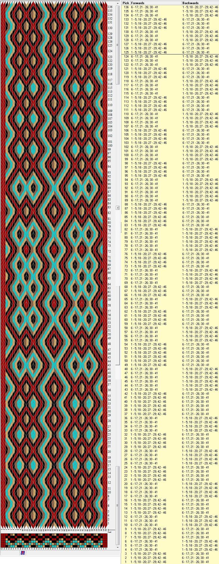 46 tarjetas hexagonales, 5 colores, completa esquema en 124 movimientos // sed_404_c6 diseñado en GTT༺❁