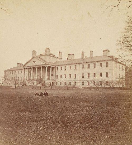 Massachusetts General Hospital in Boston circa 1860