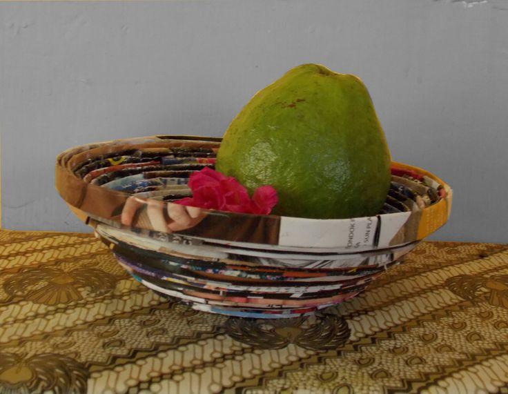 How to make bowl from magazine (cara membuat mangkuk dari majalah bekas)