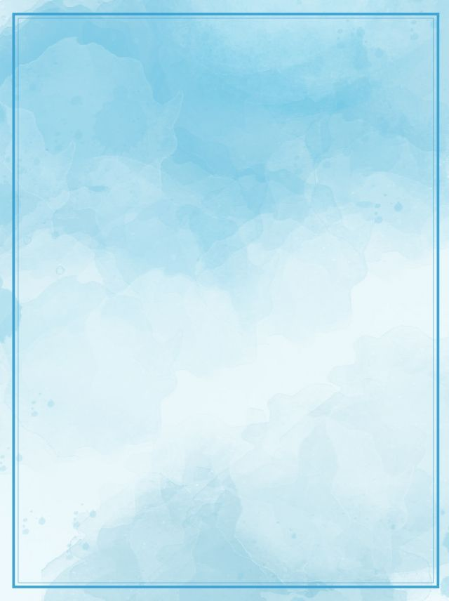 Blue Gradient Watercolor Wild Poster Background Material In 2020